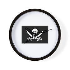 Pirate Clock - Calico Jack Rackham Flag
