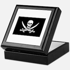 Pirate Treasure Box - Calico Jack Rackham Flag
