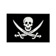 Calico Jack Rackham Pirate Flag Rectangle Magnet