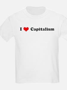 I Love Capitalism  Kids T-Shirt
