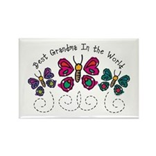 Butterfly Best Grandma Rectangle Magnet