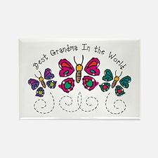 Butterfly Best Grandma Rectangle Magnet