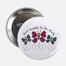 "Butterfly Best Grandma 2.25"" Button"