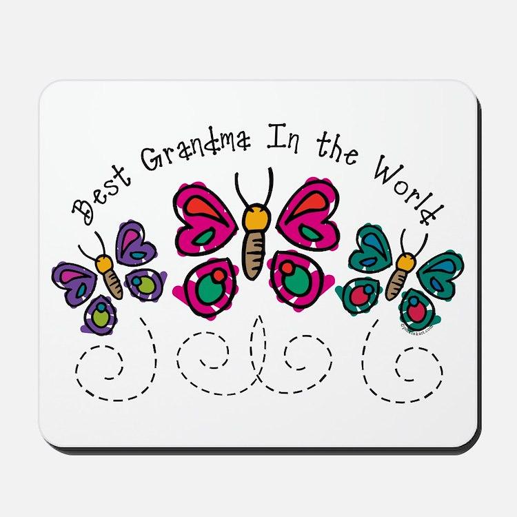 Butterfly Best Grandma Mousepad