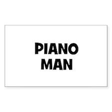 Piano man Rectangle Decal