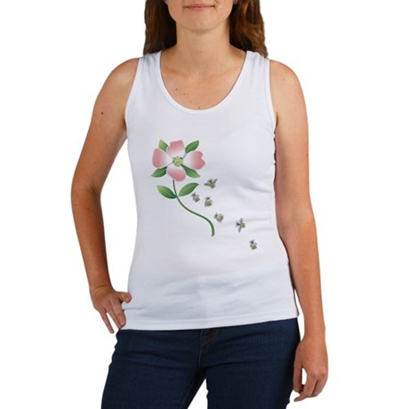 Dogwood and Bees Women's Tank Top
