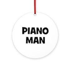 Piano man Ornament (Round)
