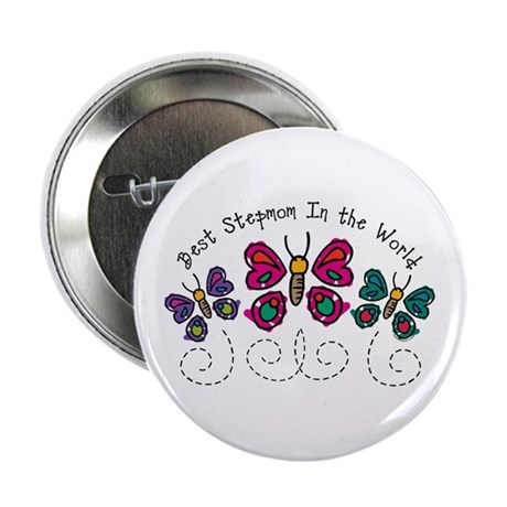 "Butterfly Best Stepmom 2.25"" Button"