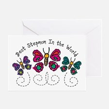 Butterfly Best Stepmom Greeting Card