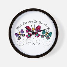 Butterfly Best Stepmom Wall Clock