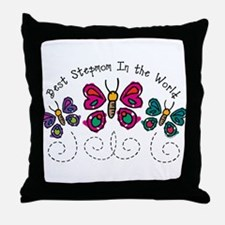 Butterfly Best Stepmom Throw Pillow