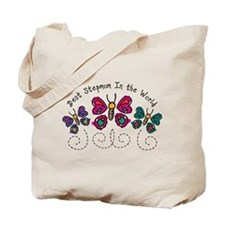 Butterfly Best Stepmom Tote Bag