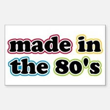 Made In The Eighties Rectangle Decal