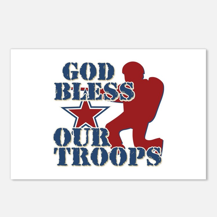 God Bless Our Troops Postcards (Package of 8)