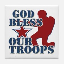 God Bless Our Troops Tile Coaster
