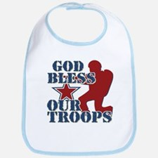 God Bless Our Troops Bib