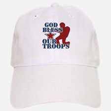 God Bless Our Troops Baseball Baseball Cap