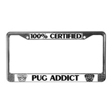 Pug Addict License Plate Frame