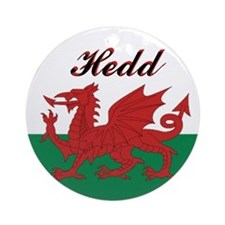 "Welsh Flag ""Peace"" Round Ornament"