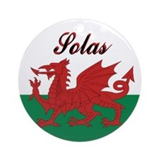 "Welsh Flag ""Joy"" Round Ornament"