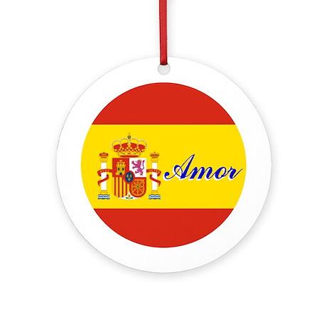 "Spanish Flag ""Love"" Ornament"