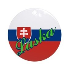 "Slovakian Flag ""Love"" Ornament"