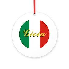 "Italian Flag ""Joy"" Ornament"