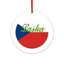"""Czech Flag """"Love"""" Ornament"""