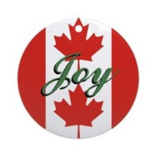 "Canadian Flag ""joy"" Ornament"