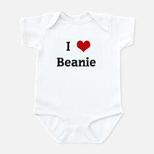 I Love Beanie  Infant Bodysuit