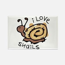 I Love Snails Rectangle Magnet