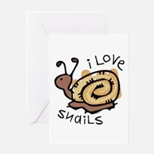 I Love Snails Greeting Card