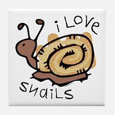 I Love Snails Tile Coaster