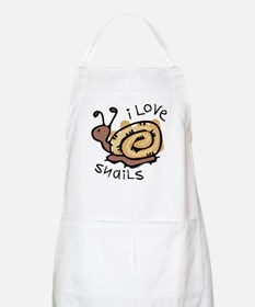 I Love Snails BBQ Apron