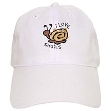 I Love Snails Baseball Cap