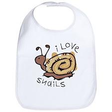 I Love Snails Bib