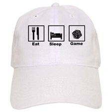 Eat, Sleep, Game Role Playing Baseball Cap