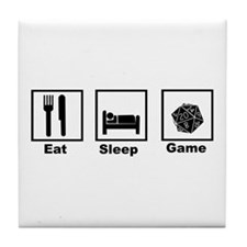 Eat, Sleep, Game Role Playing Tile Coaster