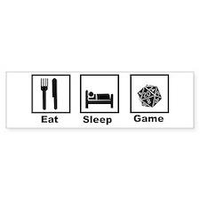 Eat, Sleep, Game Role Playing Bumper Bumper Sticker