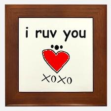 i love you Framed Tile
