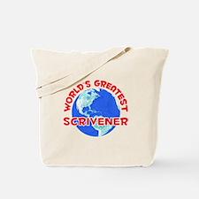 World's Greatest Scriv.. (F) Tote Bag