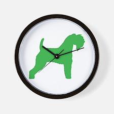 Green Kerry Blue Terrier Wall Clock