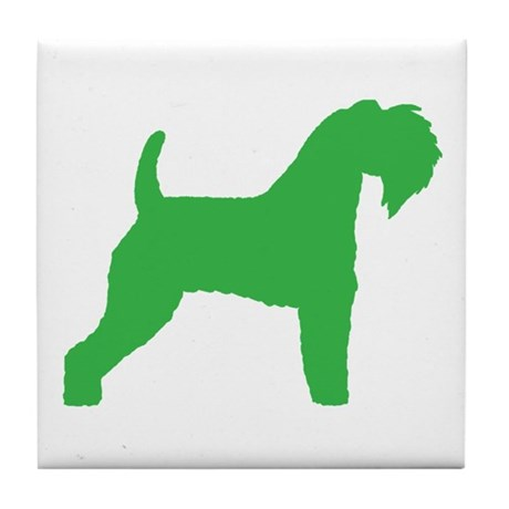 Green Kerry Blue Terrier Tile Coaster