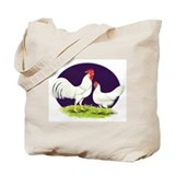 Leghorn chicken Canvas Totes
