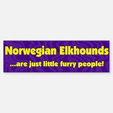 Furry People Norwegian Elkhound Bumper Bumper Bumper Sticker
