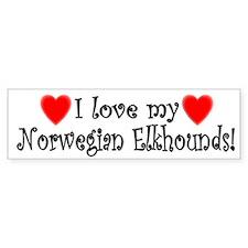 I Love My Norwegian Elkhounds Bumper Bumper Sticker