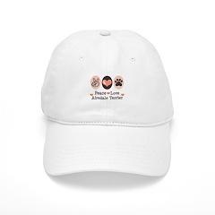 Peace Love Airdale Terrier Baseball Cap