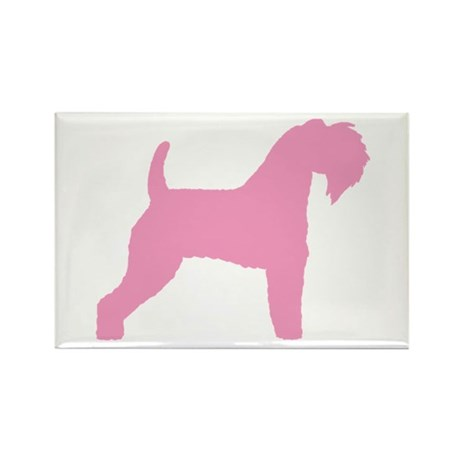 Pink Kerry Blue Terrier Rectangle Magnet