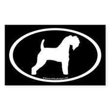 Kerry Blue Terrier Oval(w/b) Rectangle Decal