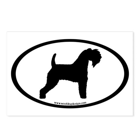 Kerry Blue Terrier Oval Postcards (Package of 8)